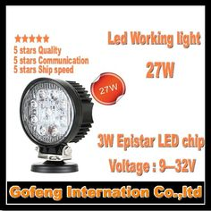 32.89$  Buy now - http://ali7nw.shopchina.info/go.php?t=32809583984 - 1PCS/LOT high quality DC10-30V IP67 4inch 27W Led Work Light Flood Beam For 4x4 Offroad Truck car lamp free shipping 32.89$ #aliexpress
