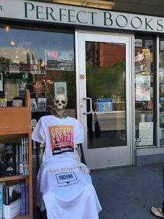 Barnaby enjoys haunting places like Perfect Books in Ottawa Book Signing, Ottawa, Spring 2016, Bones, Places, Travel, Fashion, Moda, Viajes