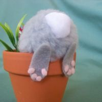 DIY Bunny In Flower Pot