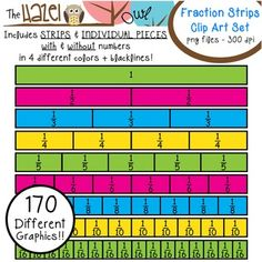 Fraction Strips & Pieces Clip Art Set!  170 Graphics!!