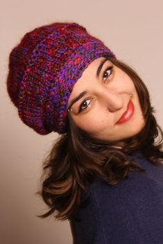Mealy Hand Knit Hat-Winter Hat-Women Hat-Men by duduhandmade