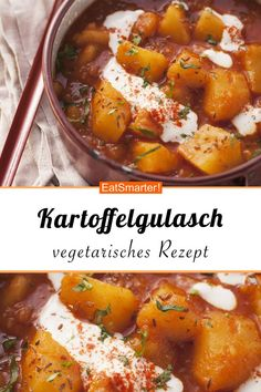 Kartoffelgulasch Kartoffelgulasch Ladina ladiina f o o d d r i n k s Kartoffelgulasch smarter Kalorien 255 kcal Zeit 30 Min eatsmarter de gulasch kartoffeln vegetarisch Ladina hellip Easy Healthy Recipes, Easy Dinner Recipes, New Recipes, Healthy Snacks, Vegetarian Recipes, Easy Meals, Summer Recipes, Cooking Recipes, Healthy Recipes