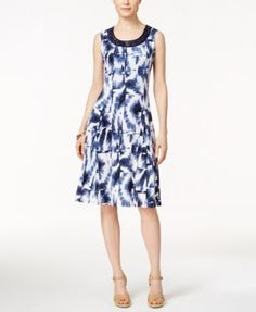 JM Collection Printed Sleeveless Dress, Only at Macy's | macys.com