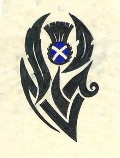 Scottish Thistle tattoo idea. Love it!!