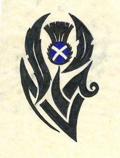 Scottish Thistle tattoo idea. Love it!!