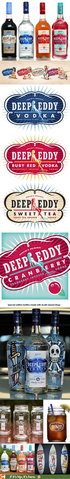 Deep Eddy Vodkas of Austin Texas have great looking logos, bottles and branding. Their website, by peach pixel design is also very impressive.