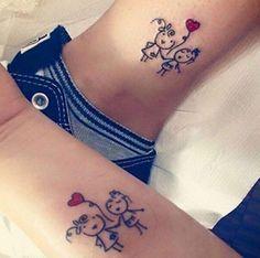 Sketched sister tattoos via Jenny Lynn Mongold