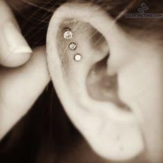 Tripple Scapha Ear Piercings
