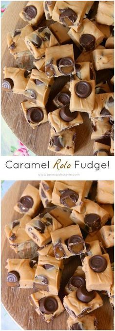 ❤️ Simple, Easy, and Utterly Delicious 4 Ingredient Caramel Rolo Fudge! No Sugar Thermometers, No Boiling, Just Quick & Easy! is part of Delicious fudge recipe - Delicious Fudge Recipe, Best Fudge Recipe, Fudge Recipes, Candy Recipes, Sweet Recipes, Baking Recipes, Delicious Desserts, Dessert Recipes, Yummy Food