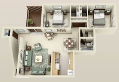 The floorplan for Two bedroom