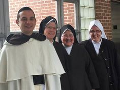 "Carmelite Sisters - Rosary Rally: ""A happy bunch! Fr. Christopher, Sr. Veronica Robert, Sr. Ambrose and Sr. Philomena Anne."""