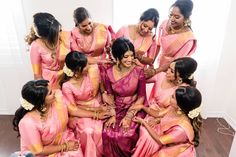 "Kungumum shared a photo on Instagram: ""Bridesmaids saree available for order in any colour! ✨ Photography: @emphotography_1 Videography:…"" • See 407 photos and videos on their profile."