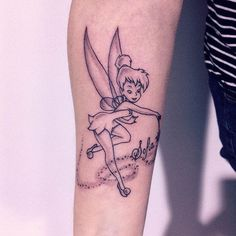 """THE Tinker Bell is a personality created by the British creator James Matthew Barrie in 1904 via the play """"The Boy Who Never Wanted to Grow"""" - whose story revolves across the protagonist Peter Pan, Hand Tattoos, Anklet Tattoos, Girl Arm Tattoos, Feather Tattoos, Body Art Tattoos, New Tattoos, Sleeve Tattoos, Tattoos For Women, Cool Tattoos"""