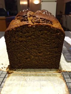 """If you say """"gingerbread"""" to me, you have got my attention! I love gingerbread, the spicier the better … but I know that is not for everyone, and some would prefer a milder flavou… Loaf Recipes, Cooking Recipes, Vegetarian Recipes, Just Desserts, Dessert Recipes, Dessert Bread, Party Recipes, Holiday Desserts, Cupcake Recipes"""