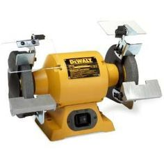 DEWALT DW756 6-Inch Bench Grinder Bench Grinder, Carpentry Tools, Garage Workshop, Power Tools, Woodworking Shop, Kitchen Gadgets, Work Pants, Leather Mask, Tools