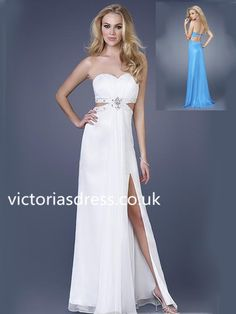 Sheath/Column Sweetheart Sleeveless Chiffon Evening Gowns With Beaded, it's amazing, but it's not expensive.