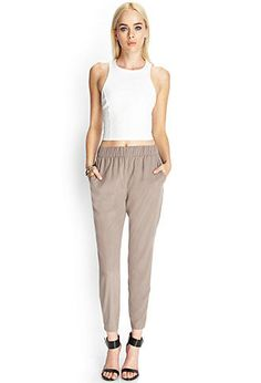 Zippered Woven Joggers | FOREVER21 - 2000121365
