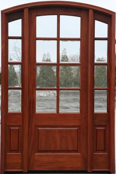 Jeldwen Aurora Fiberglass Dutch Door With Sidelights Model A 5944 Mahogany Grain Factory Split