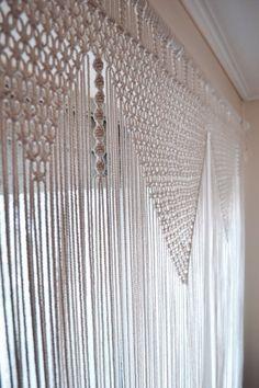 Macrame curtain close-up