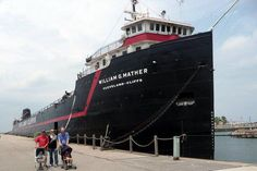 William Mather ship docked in CLE right by the Science Center. So fun to explore and see the inside of the ship!