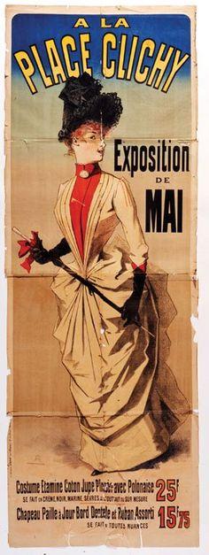 Jules Cheret, A la Place Clichy, 1890 Jules Cheret, Silhouette, Global Art, Belle Epoque, Art Market, Travel Posters, Vintage Advertisements, Art Nouveau, Mai
