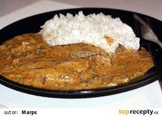 Krkovička na lesních houbách recept - TopRecepty.cz Grains, Food And Drink, Rice, Meat, Ethnic Recipes, Petra, Beef, Jim Rice, Brass