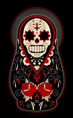 day_of_the_dead_russian_dolls_by_paulorocker-d3985wo_large.jpg 500×806 pixels
