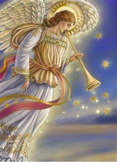 Angel by Irina Lombardo Angel Images, Angel Pictures, Catholic Art, Religious Art, Christmas Angels, Christmas Art, Angels Beauty, I Believe In Angels, Saint Esprit