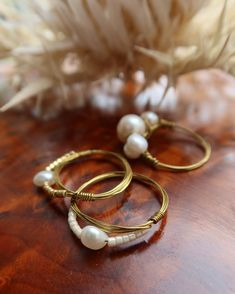 """Panduro on Instagram: """"DIY pearl rings! . Create your own jewellery with metal wire and natural freshwater pearls. Each pearl is unique, which means your…"""""""
