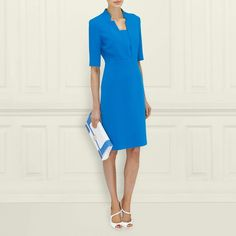 Detroit Notch Collar Fitted Dress LK Bennett, as just worn by Kate Middleton