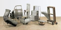 Robert Rauschenberg, Oracle, a sound environment composed of five pieces in galvanised sheet metal, mounted on castors and each including a battery, a transmitter and a loudspeaker. Robert Rauschenberg, Wooden Window Frames, Wooden Windows, Cy Twombly, Richard Diebenkorn, Joan Mitchell, Pierre Auguste Renoir, Edouard Manet, Camille Pissarro