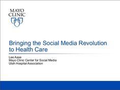 Slides from my April 2013 presentation to the Utah Hospital Association. Social Media Training, Public Health, Utah, Health Care, Presentation, Medical, Medicine, Med School, Health