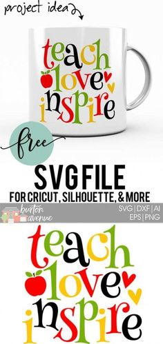 So many possibilities of Teacher DIY projects with this FREE Teach Love Inspire SVG file download. Make t-shirts, mug, signs, pillows, and more for that special teacher with this FREE SVG file. Teach Love Inspire Ai, SVG, PNG, EPS & DXF download. Teach Love Inspire SVG file, Free SVG file works with Cricut, Cameo Silhouette and other major cutting machines. Free cut file download