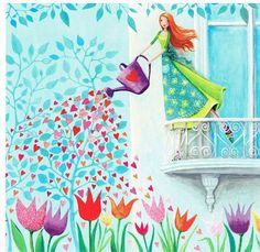 Discover thousands of images about Thumbelina 1 Painting by Caroline Bonne-Muller - Thumbelina 1 Fine Art Prints and Posters for Sale Art And Illustration, Lulu Shop, Art Fantaisiste, Art Mignon, Art Carte, Naive Art, Jolie Photo, Whimsical Art, Beautiful Paintings