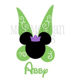 Personalized Princess Tinkerbell  Mouse Disney iron on decal vinyl for shirt