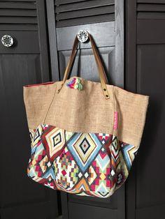 Burlap Bags, Jute Bags, Hippie Bags, Boho Bags, Sweet Bags, Denim Tote Bags, Diy Handbag, Cloth Bags, Handmade Bags