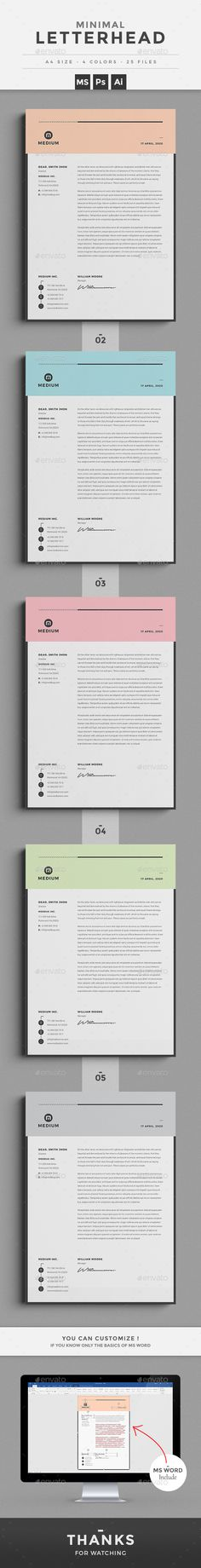 Invoice Template, Proposal templates and Branding design - letterhead example