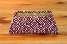 Plum Panes Clutch ($25) #geometric #handmade #fashion #fairtrade #nonprofit #internationaldevelopment #Profugo