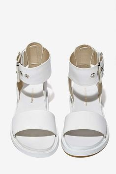 Windsor Smith Whirl Leather Sandal - white