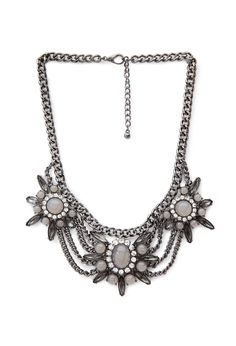 forever 21 draped floral necklace