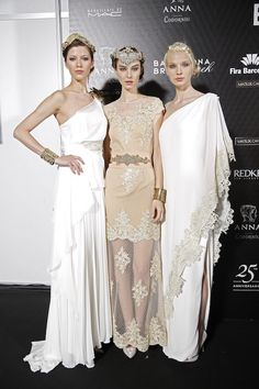 Grecian inspired gowns at Barcelona Bridal Week 2015