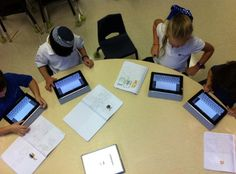 iPads in a first grade classroom including introducing the rules and learning how to navigate.  Also ideas for use are included