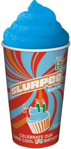 I remember talking Grammie into stopping for these on the way home from school. Her back seat of her Monte Carlo was forever stained! 7 Eleven Slurpee, Seven Eleven, Snow Cones, The Way Home, Oldies But Goodies, Slushies, Boy Birthday Parties, Culinary Arts, Vintage Children