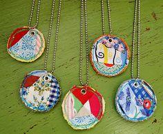 fabric necklaces - easy peasy!