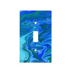 Rippling Tropical Blue Water Light Switch Cover | Zazzle.com Water Lighting, Unique Lighting, Glass Ceiling Lights, Turquoise, Blue Art, Blue Abstract, Light Switch Covers, Light Art, Marble