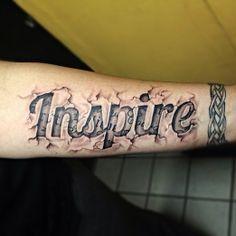 letra 3d tatuaje