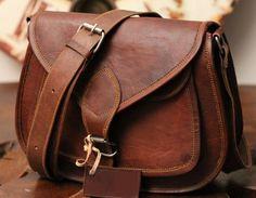 25553e5fad 9 11 13 inches Handmade Crossbody Genuine Leather Purse Retro Women Handbag  Leather Messenger Bag Satchel Brown   handbag Goat Leather