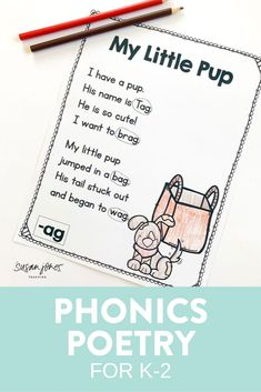 These phonics poems are the perfect way to have your students practice fluency! I love to put these poems in a poetry folder and each week we have a new word family or phonics skill to learn. Kindergarten, first grade, and second grade students can read the poems, visualize the poems, and practice nonsense words easily in a phonics center, whole group or small group with the teacher!  #firstgradepoetry #poetry #firstgrade #secondgrade