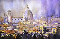 Florence Duomo by Ryan Fox was awarded Outstanding Watercolor in the December, 2014 BoldBrush painting competition.
