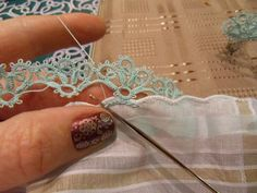HOw to attach edgings.. Tatting
